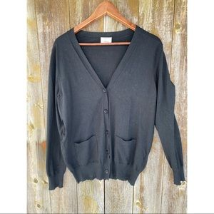 ARITZIA WILFRED long black button up cardigan